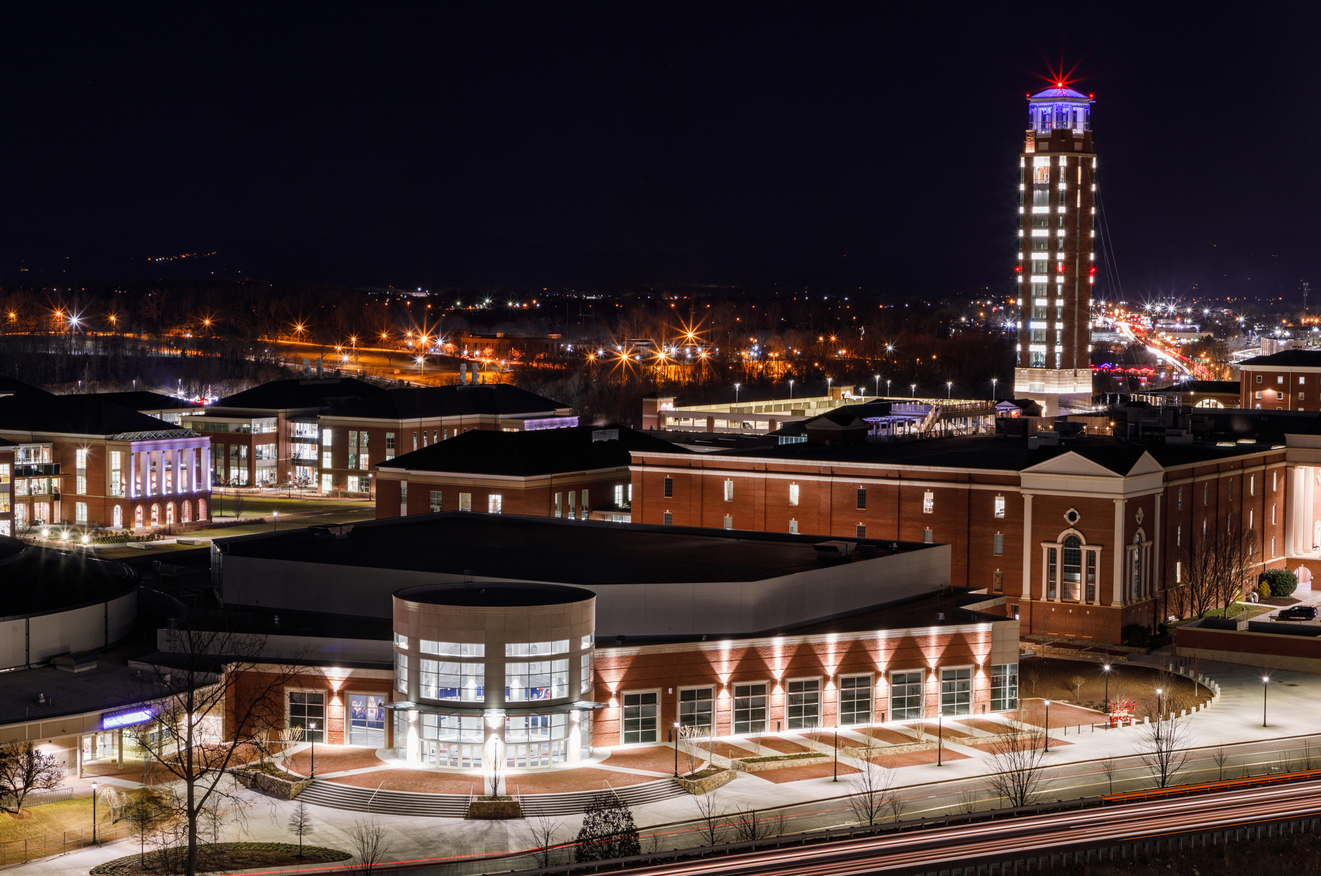 The Liberty Arena is photographed at night on January 20th, 2021  (Photograph by Ross Kohl)
